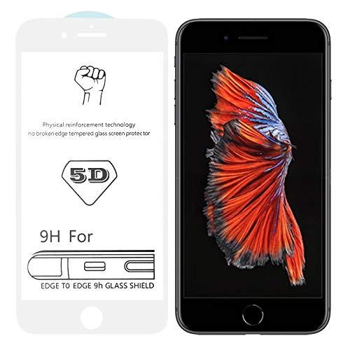 Dmtrab para Película de Cristal templada Completa de Pantalla Completa de Pantalla Completa de 9h 5D White Full para iPhone 6 Plus / 6s Plus
