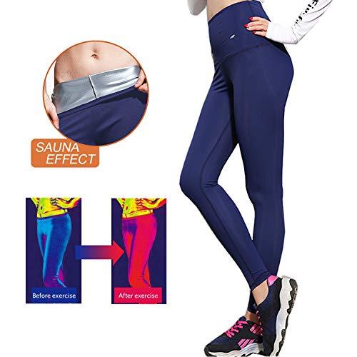 GoYun Gewichtsverlust Hosen Sauna Hosen, Schwitzhose für Frauen Fettverbrennung, Womens abnehmen Hosen Hot (S)