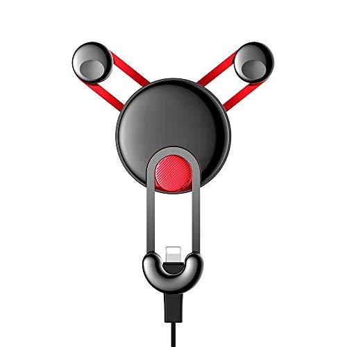 Gnohnay Auto Telefoonhouder, 360° Draaibaar Air Vent Telefoon Voetstuk voor IPhone XS, 6S, 6 Plus, Samsung S9, S8, S7, Google Nexus 5, 4, Samsung S10, S9, HTC Sony Huawei P30