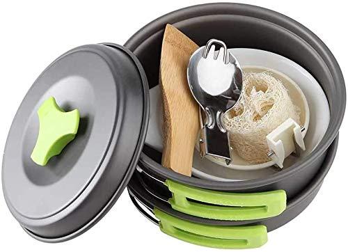 BAIYAN Juego Utensilios Cocina al Aire Libre, Kit de Desastre de Utensilios de Cocina de Campamento portátil Mochilero al Aire Libre Conjunto de Cocinero