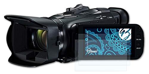 Bruni Schutzfolie kompatibel mit Canon Legria HF G50 Folie, glasklare Bildschirmschutzfolie (2X)
