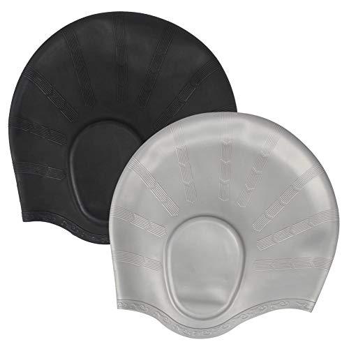 CYSJ Set 2 Pezzi Cuffia da Nuoto per la Protezione delle Orecchie 3D, Ear cap Cuffia Nuoto Unisex cunise, in Silicone Impermeabile, di Alta qualità Atossico Antiscivolo Proteggi i Capelli