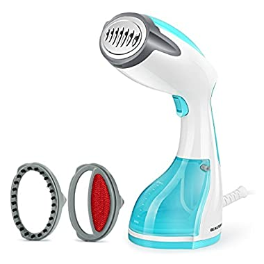 Beautural 1200W Handheld Garment Steamer, Portable Home and Travel Steamers for Clothes with 260ml Removable Water Tank Vertically & Horizontally Steam