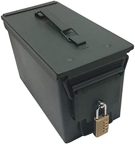 Case Club New .50 Cal Ammo Can with Pre-Installed Stainless Steel Locking Hardware (No Drilling or Assembly Required)