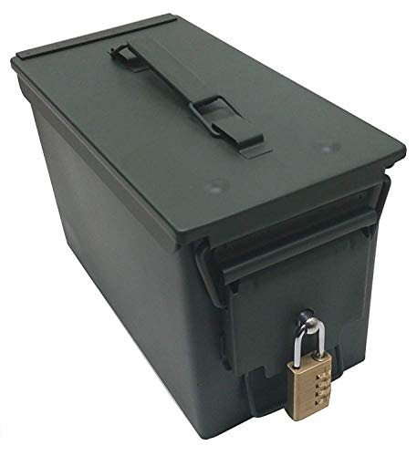 Case Club New .50 Cal Ammo Can with Pre-Installed Stainless Steel Locking Hardware (No Drilling or Assembly Required) (Single Count)