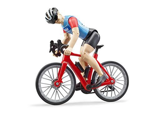 Bruder 63110 - Bworld Rennrad mit Radfahrer