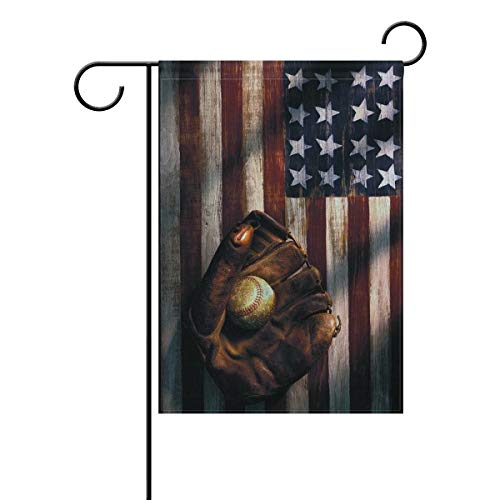 Kleiderschrank-Flagge, amerikanische Flagge, Baseball, Garten, Polyester, Outdoor-Flagge, Heimparty, 30,5 x 45,7 cm, Polyester, mehrfarbig, 32 x 48 cm