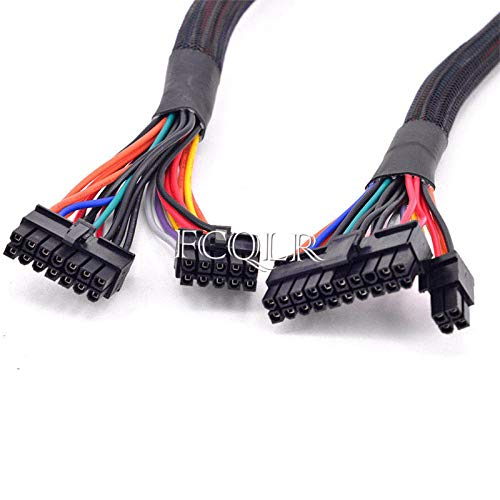 FCQLR 14pin 10pin to 24pin ATX Power Kabel für Corsair AX1500i AX1200i AX860i AX760i