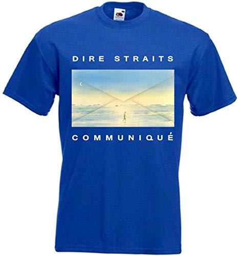 WEW Dire Straits Communique T-Shirt Blue Poster
