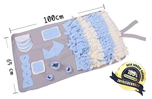 Bialinolti Schnüffelteppich für Hunde 100cm x 65cm | Schnüffelrasen | Schnüffelwiese | Suchmatte | Futtermatte | Hundespielzeug für Nasenarbeit | Intelligenzspielzeug | Beschäftigung für Hunde