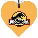 Jurassic Park Navidad Colgante Metal CorazóN Placa Regalo ChucheríA Festiva En Forma De CorazóN Cartel Hojalata DecoracióN Recuerdo