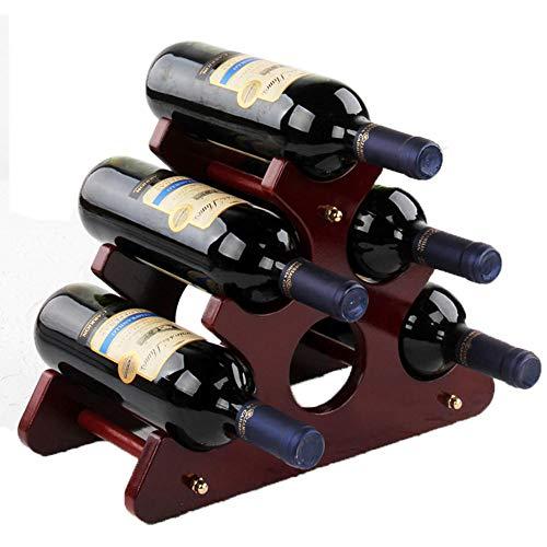 WXJJ Botellero de Madera Triangular, botellero de encimera de bambú, Madera Maciza, Fuerte y Estable, se Puede Colocar 5 Piezas, 13.8 in, Adecuado para Vino