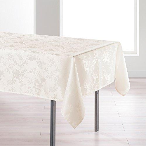 l'harmonie du décor nappe rectangle 140x250cm floralie naturel