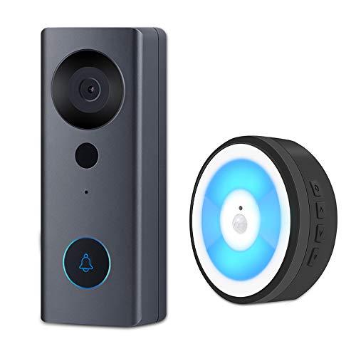 Videocamera WiFi Smart Video Campanello, 1080P HD Wireless Remote Home Security Campanello, Audio bidirezionale, 130 ° grandangolare, rilevamento Movimento PIR, Cloud Storage, Supporto Fino a 128G
