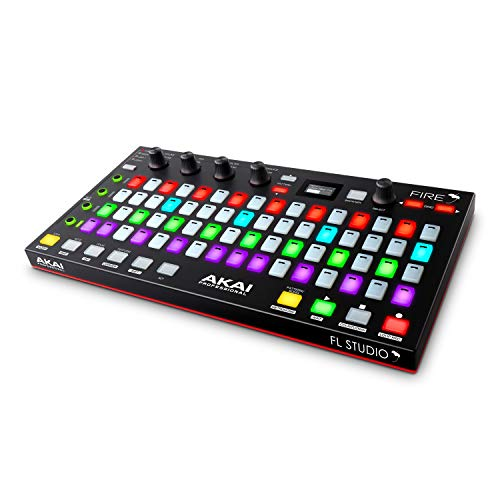 AKAI Professional FIRE con paquete Software - Controlador USB MIDI para FL Studio con matriz 4x16 de clips y drum pads RGB y Software FL Studio Fruity Edition
