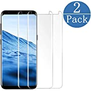 hairbowsales Compatible [2 - Pack] Samsung Galaxy S8 Tempered Glass Screen Protector,hairbowsales[9H Hardness][Anti-Scratch] [Anti-Fingerprint][3D Curved][Ultra Clear] Screen Protector for Galaxy S8