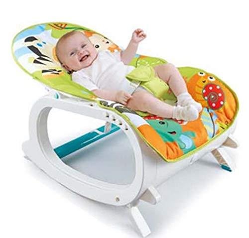 ZWQ kids Bascule, Chaise et siège à Bascule pour bébé, avec Vibrations, chansons et Sons apaisants, Convenant aux bébés de Moins de 3 Ans,A