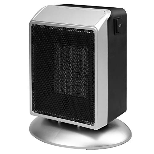 Portable Space Heater, 500W / 900W Personal Ceramic Heater Fast Heating Electric Heater Fan with Overheat Protection & Tip-Over Protection for Desk Office Home Bedroom Heater Portable Space