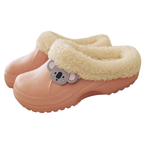 MINIKIMI winterslippers unisex warme pluche klompen gevoerde pantoffels antislip binnen en buiten Waterproof slippers winterschoenen