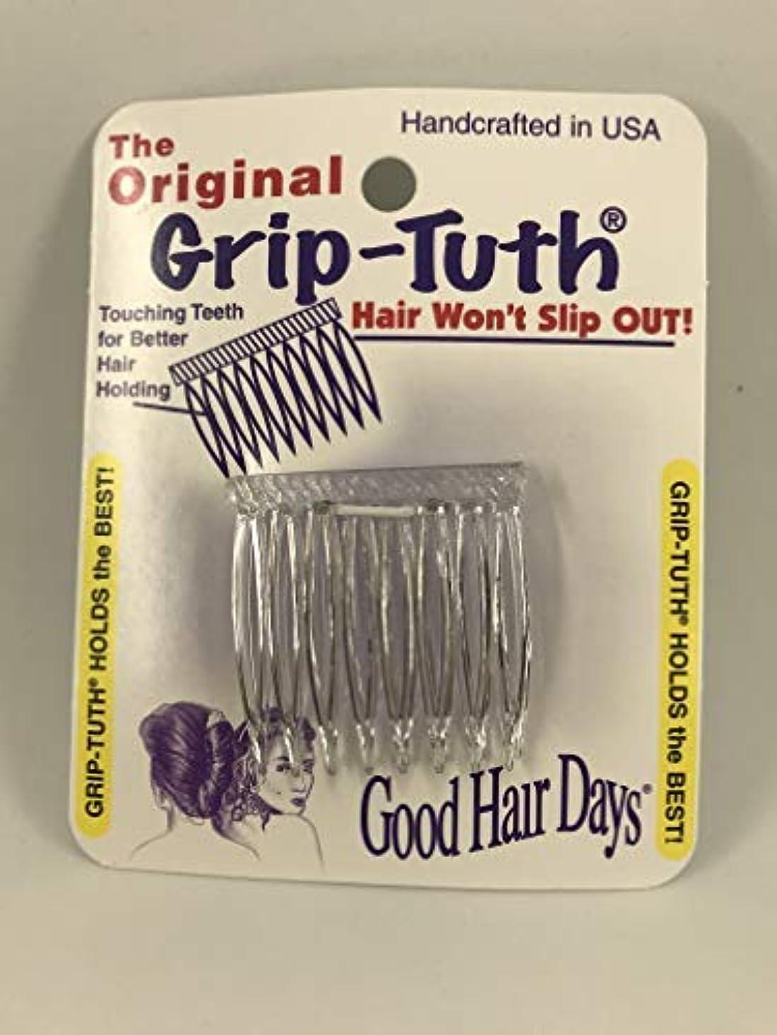 無知力脈拍Good Hair Days Grip Tuth Hair Combs 40072 Set of 2, Clear 1 1/2