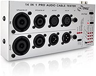 13 Plug Audio Cable Tester - 13 In 1 Pro Audio Cable Tester Music Instrument/studio Equipment Cable Connector Continuity Checker/Line Finder/Wire Tracker W/ Battery, Led Light - Pyle Pro PCT60