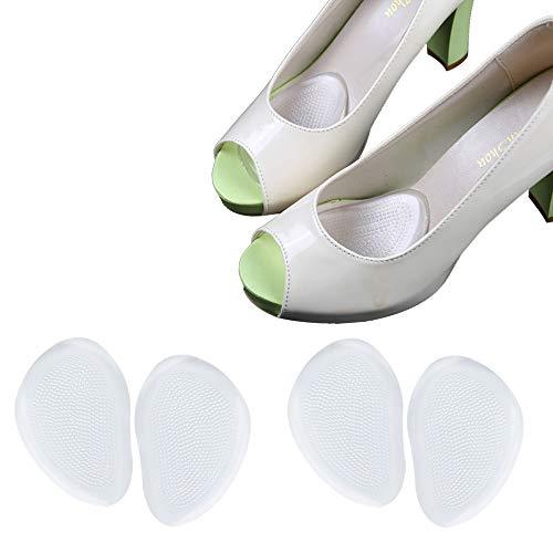 Ballenpolster (2 Paar/4 Stück) Schuheinlagen für High Heels Gelkissen für Fußballen (2 Paar/4 Stück)