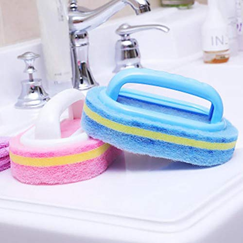 Benrise kunststof reinigingsborstel met handvat spons borstel keuken badkamer badkamer tegel ontsmetting bad borstel schoonmaak borstel