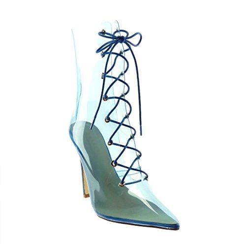 Angkorly - Damen Schuhe Stiefeletten Stiefel - Stiletto - Flexible - transparent - Kunststoff...