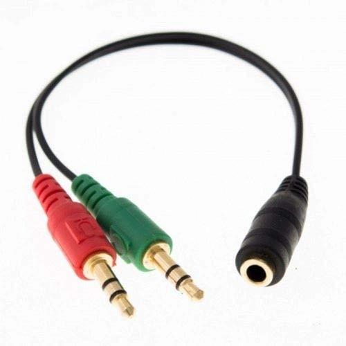 Cabo Adaptador P3 Fêmea para P2 Macho (Fone) e P2 Macho (Microfone)