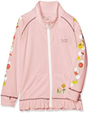 [スミッコグラシ] ジャケット すみっコぐらし 袖プリント フリル 長袖 スタンドカラー UVカット 吸汗速乾 接触冷感 軽量 ゆったり設計 キッズ