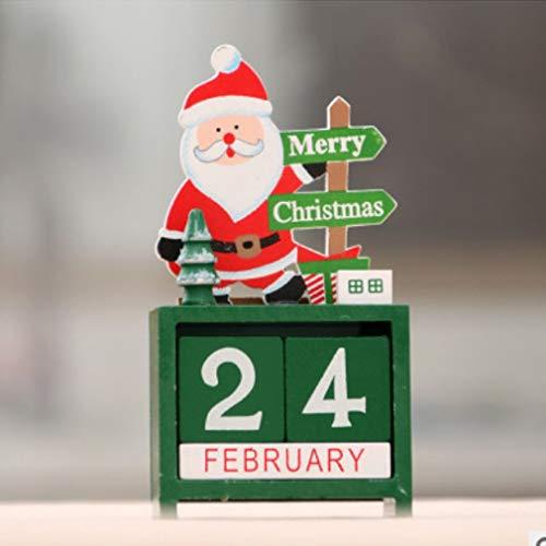 Hemore Regalo di Natale Creativo Decorazione Calendario in Legno Ornamenti Molto Pratico...