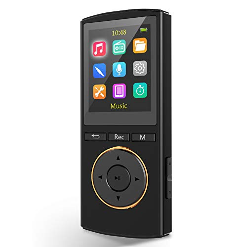 MP3 Player,8GB Music Player Support Up to 128GB,Support 1600 Songs,1800 Minutes of Playtime,Portable Media Player with FM Radio,Vioce Receord,E-Book Reader,HiFi Sound,1.25 oz for Running¡¡