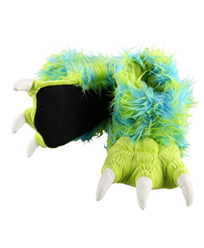 Lazy One Animal Paw Slippers for Adults and Kids, Cozy, Soft, Fun, Costume (Monster Green, X-Small)