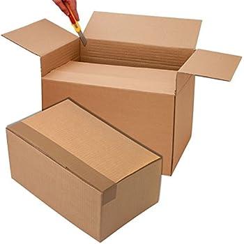 20 x 20 x 15 cm Propac Z-BOX202015M Scatola Cartone Due Onde Avana Set di 20
