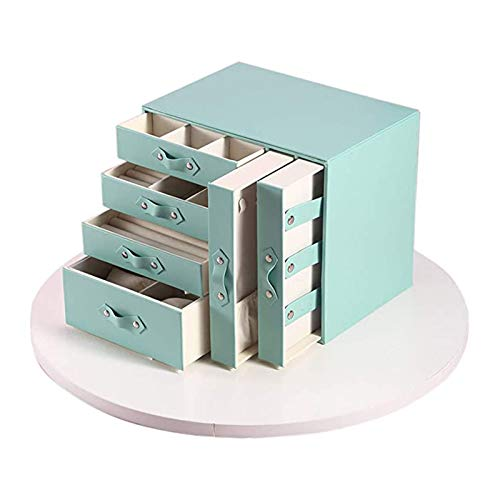 FYAS Large Jewellery Box Storage Display Case with 6 Drawers Jewelry Organizer for Rings Earrings Necklace Bracelets Jewelry
