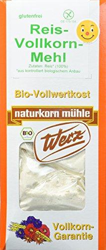 Werz Reis-Vollkorn-Mehl glutenfrei, 5er Pack (5x 1000 g) - Bio