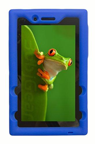Bobj Rugged Case for Lenovo Tab 3 Essential, TB3-710F, TB3-710I, (NOT FOR Tab 7 Essential TB-7304F or any other Lenovo model) - BobjGear - Venting - Sound Amplification - Kid Friendly (Batfish Blue)