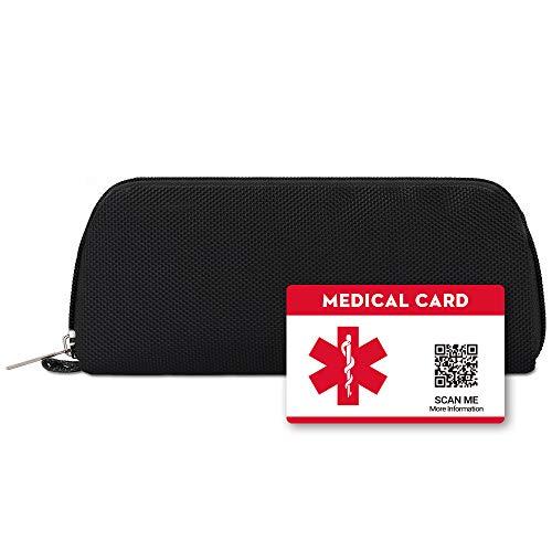 DISONCARE Estuche Para Bolígrafos De Insulina Con Etiqueta De Tarjeta De Identificación De Alerta Médica, Black