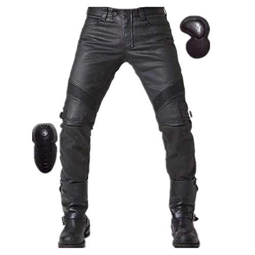 applemi Winter Winddicht Reithose Motorrad Retro Jeans Motorradhose Upgrade Gürtel Schutzbeschichtung Lederhose-XL