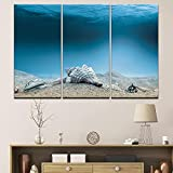 MOLVSENLIN Imágenes de la Pared Modular Impresiones de Arte Poster Fashion 3 Set Beach Sea View Decoration Hogar para la cita-30cmx60cmx3pcs sin Marco