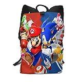 Sonic-the-Hedgehog Teens Backpack Bookbag For School Or Travel