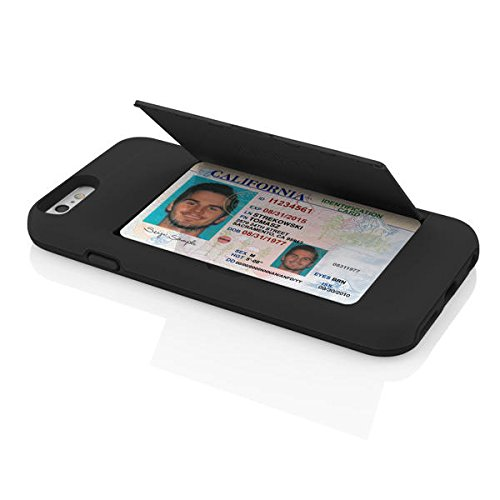 Incipio Stowaway Cell Phone Case for Apple iPhone 6 - Retail Packaging - Black/Black
