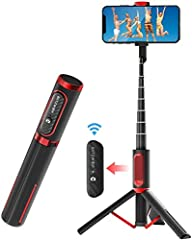 【All-in-One Innovation Design】 -- BW-BS10 selfie stick is the first Innovative integrated premium selfie stick tripod of the world, no wobble/tilt, can hold up heavy phone weight, keep your phone secure well. It is the lightest, most exquisite, and s...