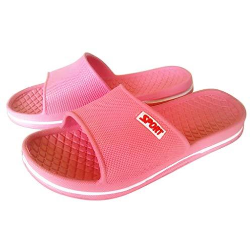 Sylar Zapatillas de Interior EVA baño Sandalias y Zapatillas Antideslizantes de Lino Zapatillas Interior Sandalias Unisex para Verano Primavera Otoño