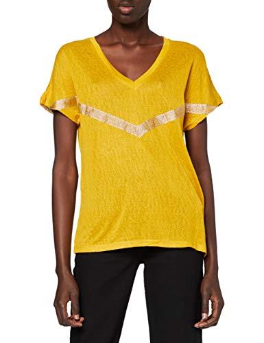 Only Onyrita S S/S Preppy Top Jrs Camiseta, Tawny Olive, M para Mujer