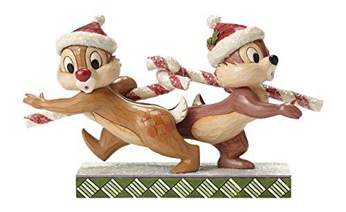 Disney Tradiciones bastón de Caramelo Caper Chip N Dale Ornament