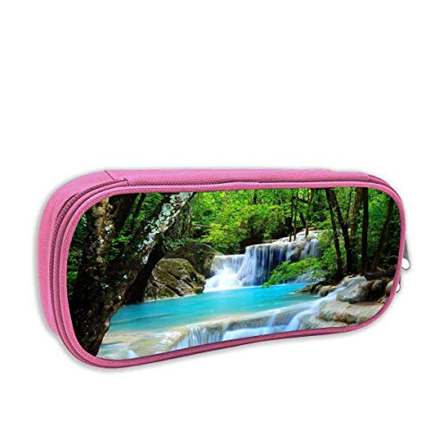 BSYZ Waterfalls Forest Creek Landscape Pencil Case Big Capacity Pencil Bag Makeup Pouch Durable Students Stationery Best for School/Office