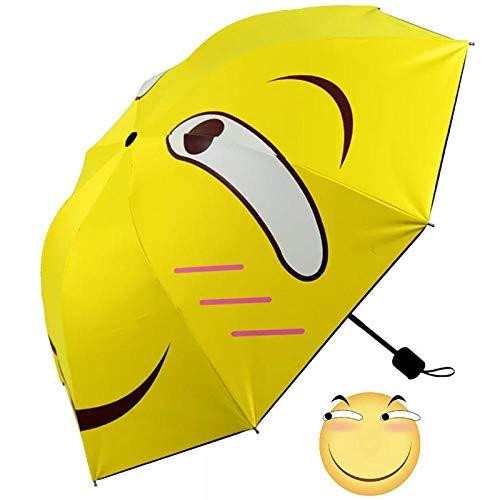 Parasol Parapluie Petit Parapluie Pliant Jaune Parasol De Mode Ensoleillé Et Pluvieux Mignon Parapluies Féminins Imperméables Anti Pluie Femmes