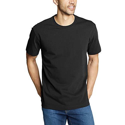 Eddie Bauer Men's Legend Wash Pro Short-Sleeve T-Shirt - Classic, Black Regular