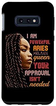 Galaxy S10e I Am Powerful Aries Melanin Queen African American BLM Case